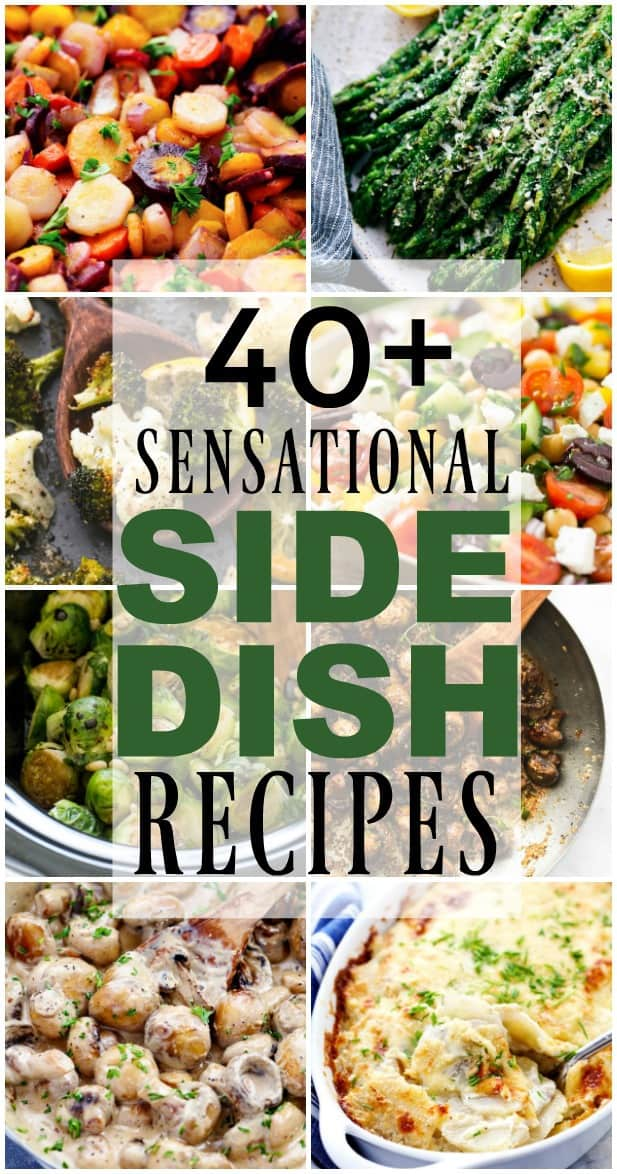 Picture collage of side dishes.