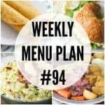 Weekly Menu Plan #94