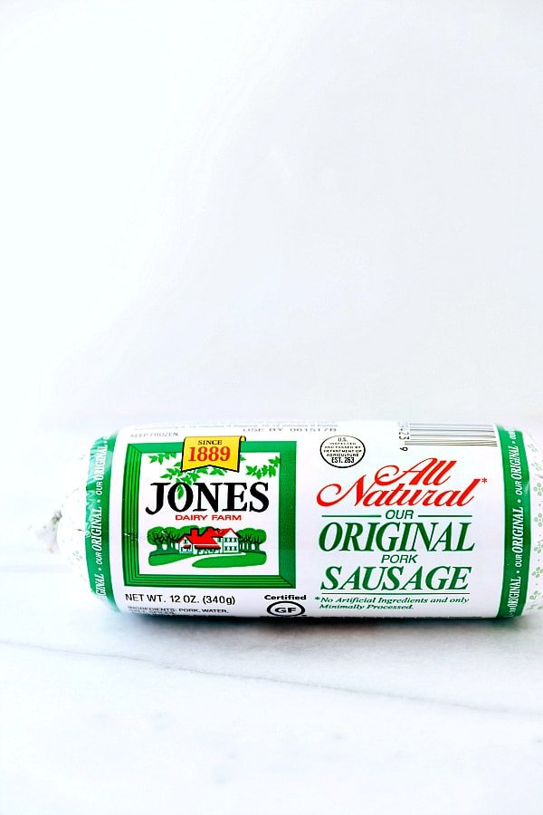 Jones all natural sausage in a tube.