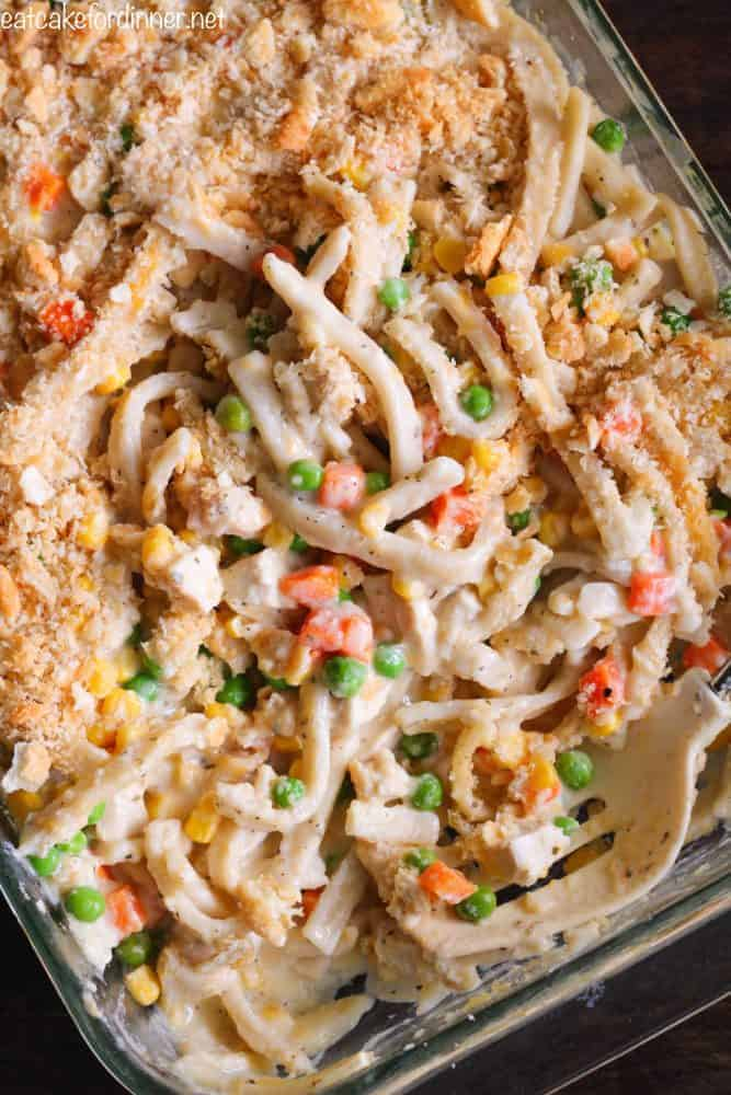 Creamy Chicken Noodle Casserole 4