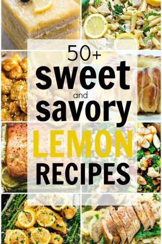 50+ Sweet and Savory Lemon Recipes