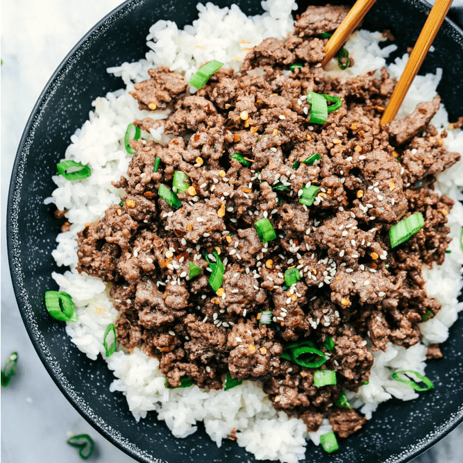 Korean ground beef and rice bowls the recipe critic prep time forumfinder Image collections