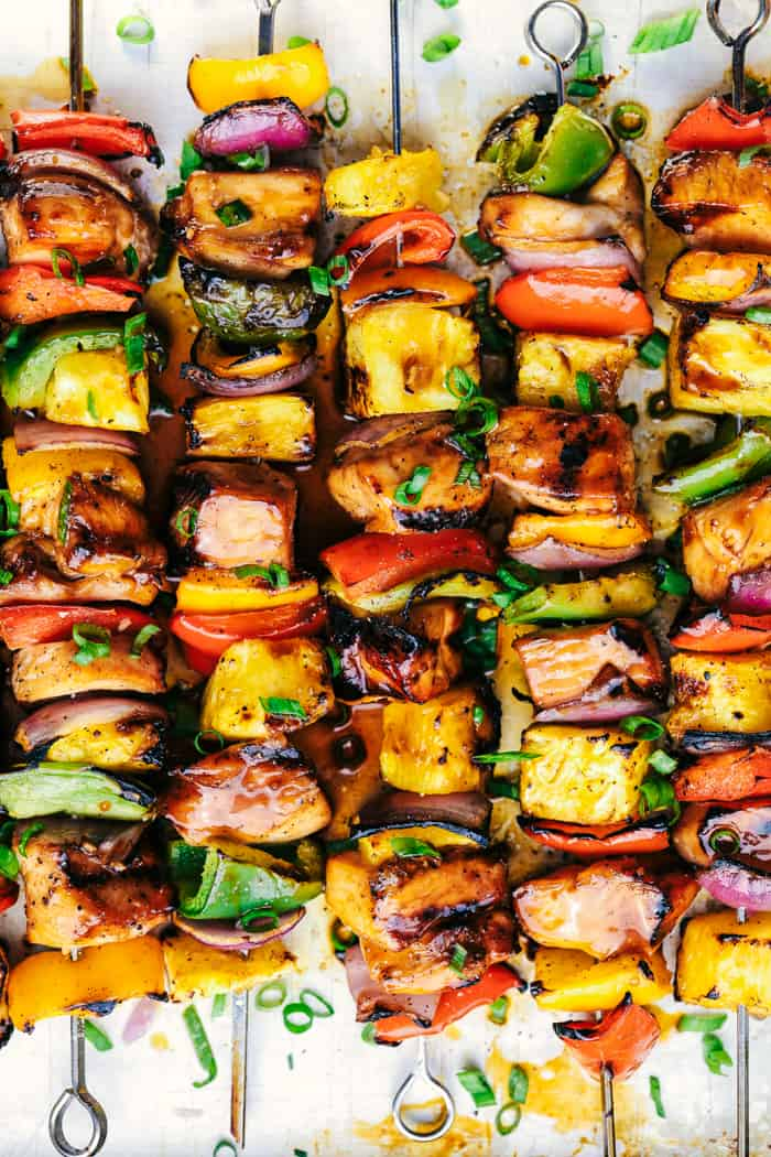 Hawaiian Teriyaki Chicken Skewers 3