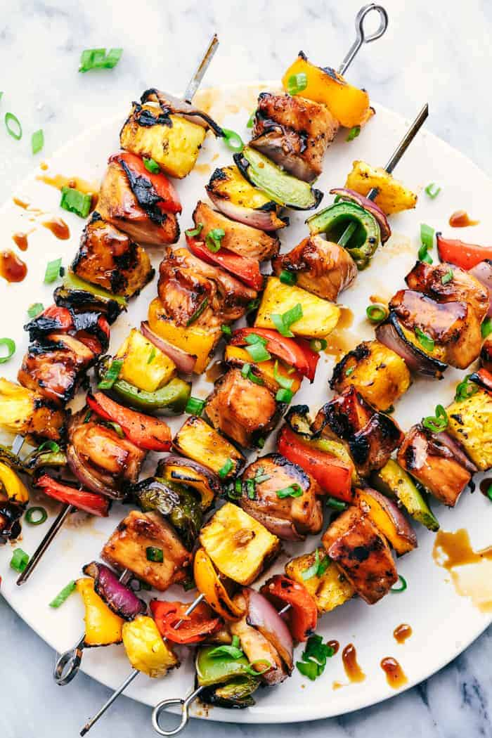 Hawaiian Teriyaki Chicken Skewers