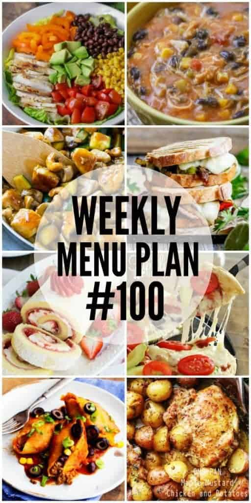 Weekly Menu Plan #100 and a Giveaway!