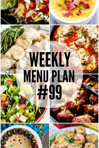 Weekly Menu Plan #99
