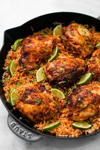 One pan chili lime chicken and rice
