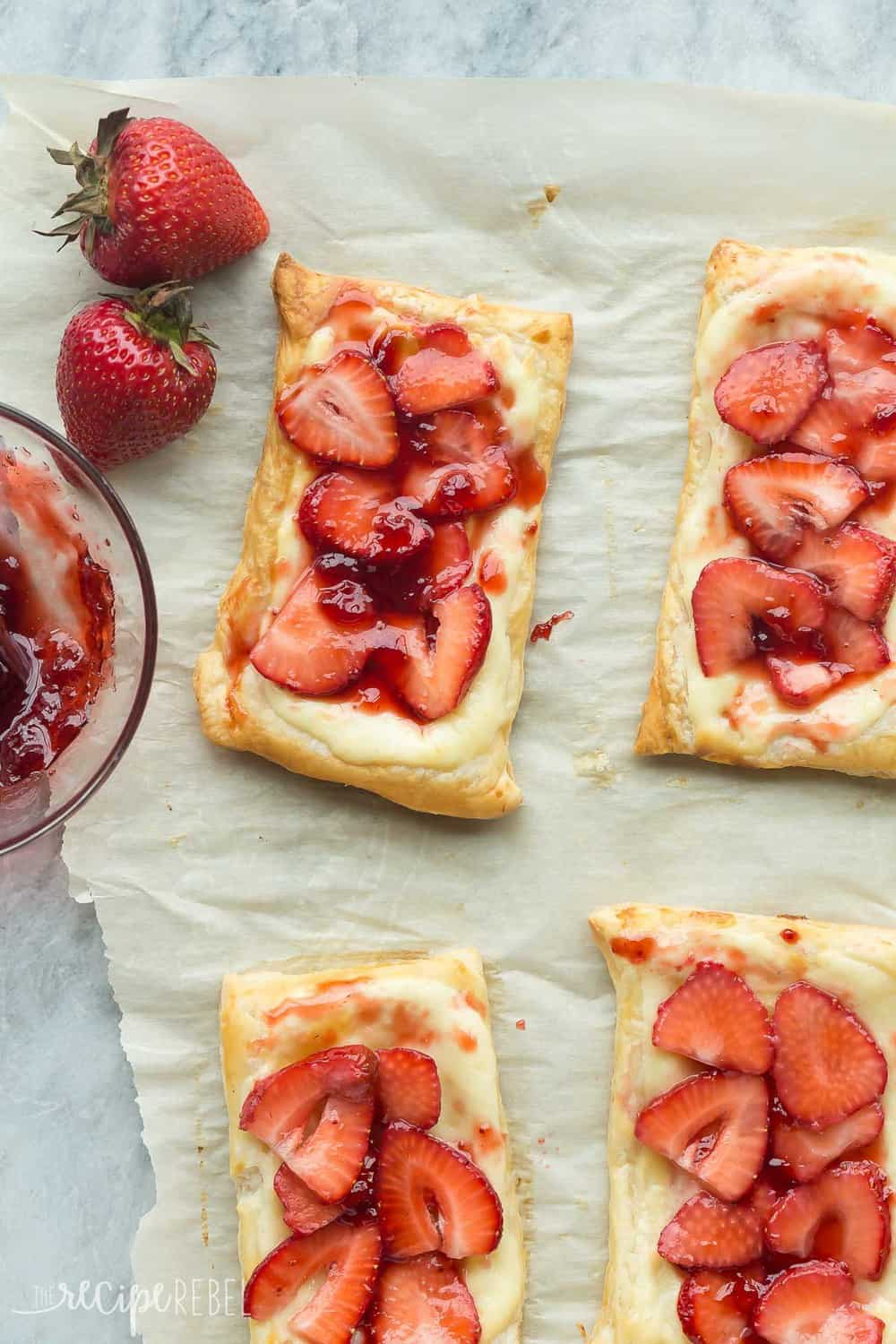 These Strawberry Cream Cheese Danishes.
