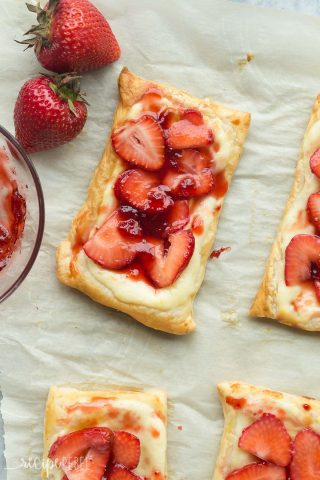 Strawberry Cream Cheese Danishes