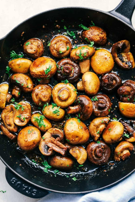 Honey Balsamic Garlic Mushrooms 4