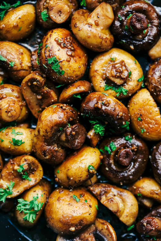 Honey Balsamic Garlic Mushrooms 2