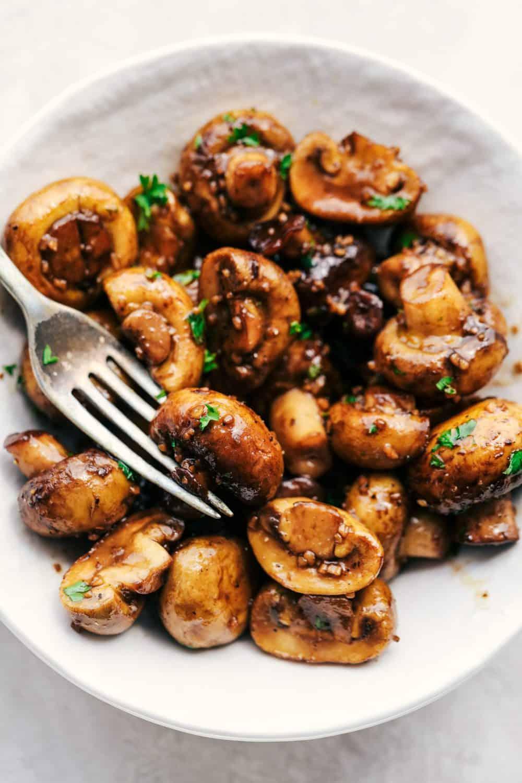Honey Balsamic Garlic Mushrooms 5