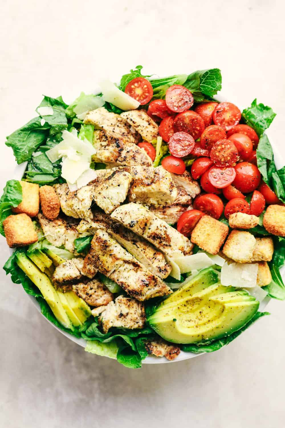 Grilled Chicken Caesar Avocado Salad The Recipe Critic