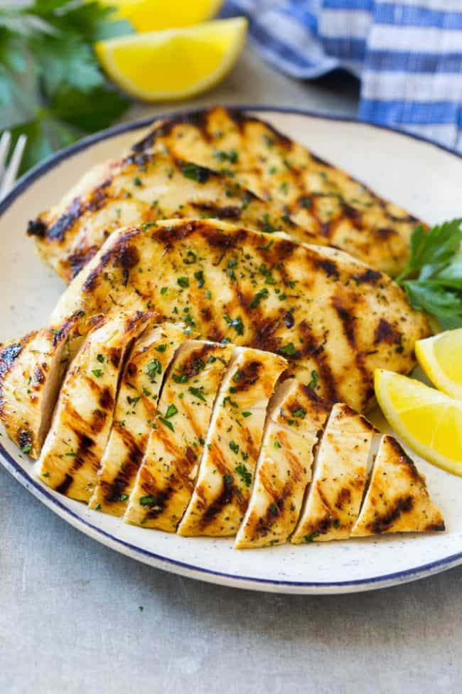 This grilled citrus and herb chicken is juicy, tender, and flavored with the best marinade. A super easy dish that's ready in no time!