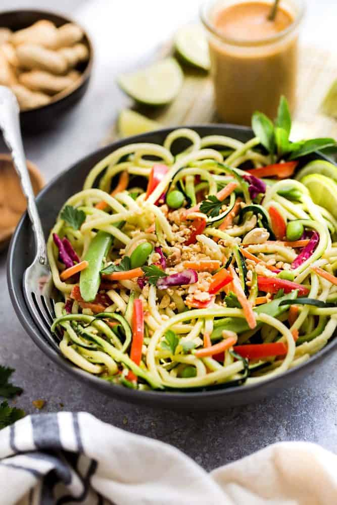 Thai Zucchini Noodle Salad The Recipe Critic