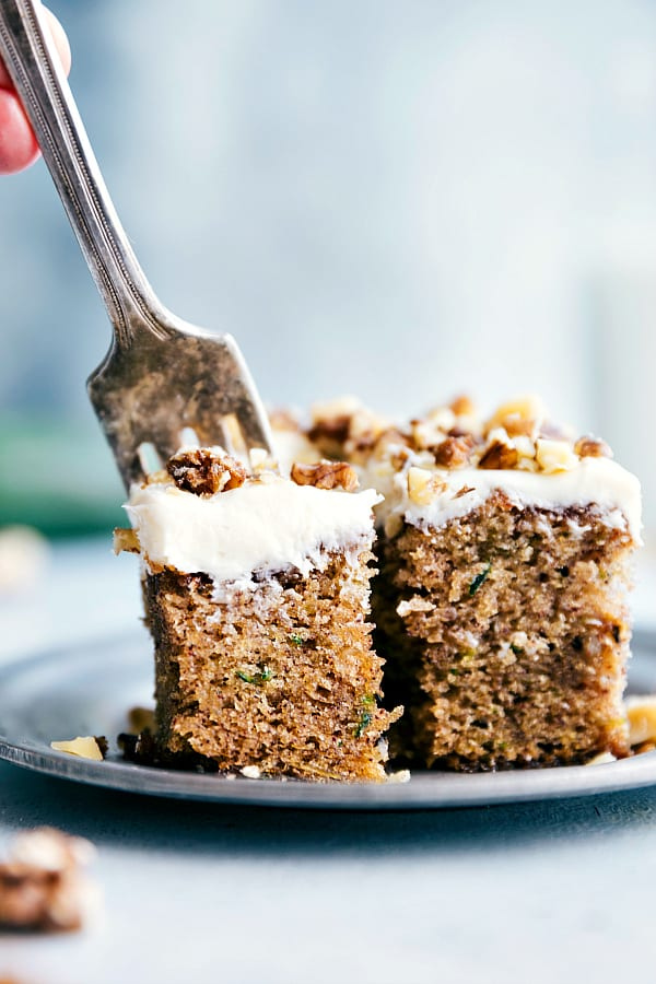 Cinnamon Zucchini Walnut Cake with Cream Cheese Frosting 3