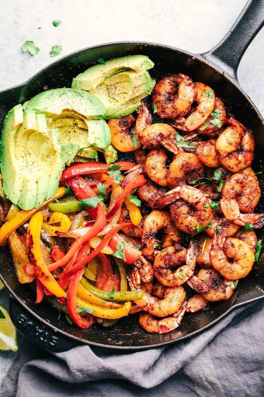 20 Minute Skillet Blackened Shrimp Fajitas   The Recipe Critic