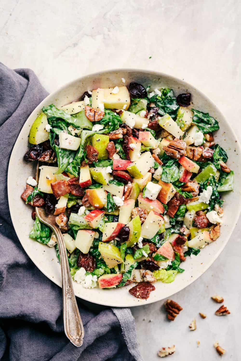 Autumn Chopped Salad with Creamy Poppyseed Dressing 3