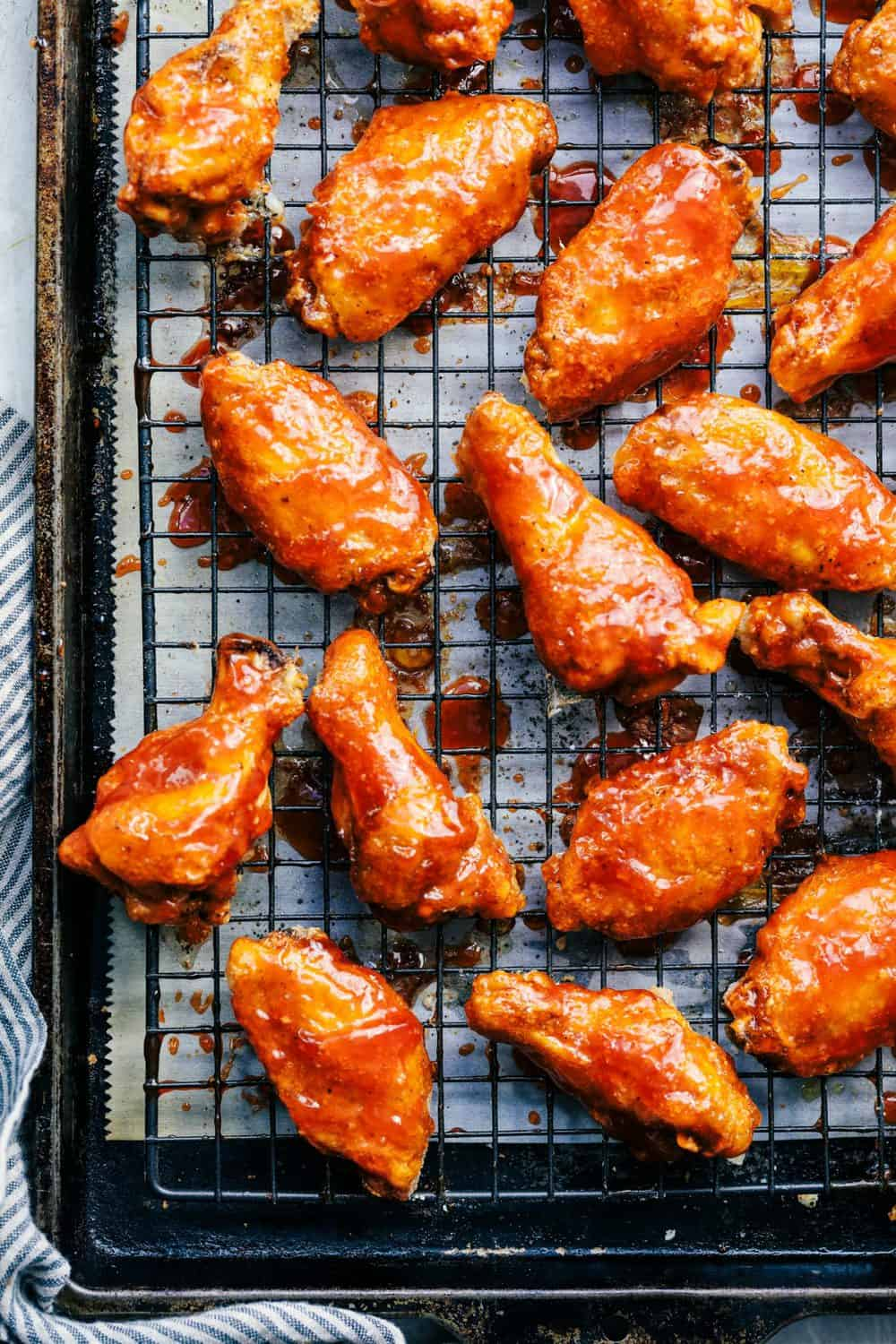 Baked Sticky Honey Garlic Buffalo Wings 2