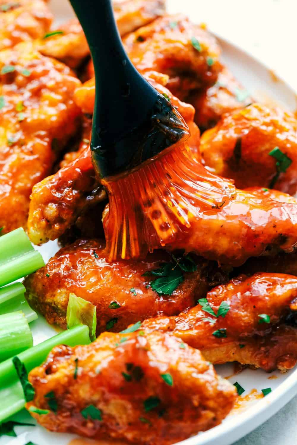 Baked Sticky Honey Garlic Buffalo Wings The Recipe Critic