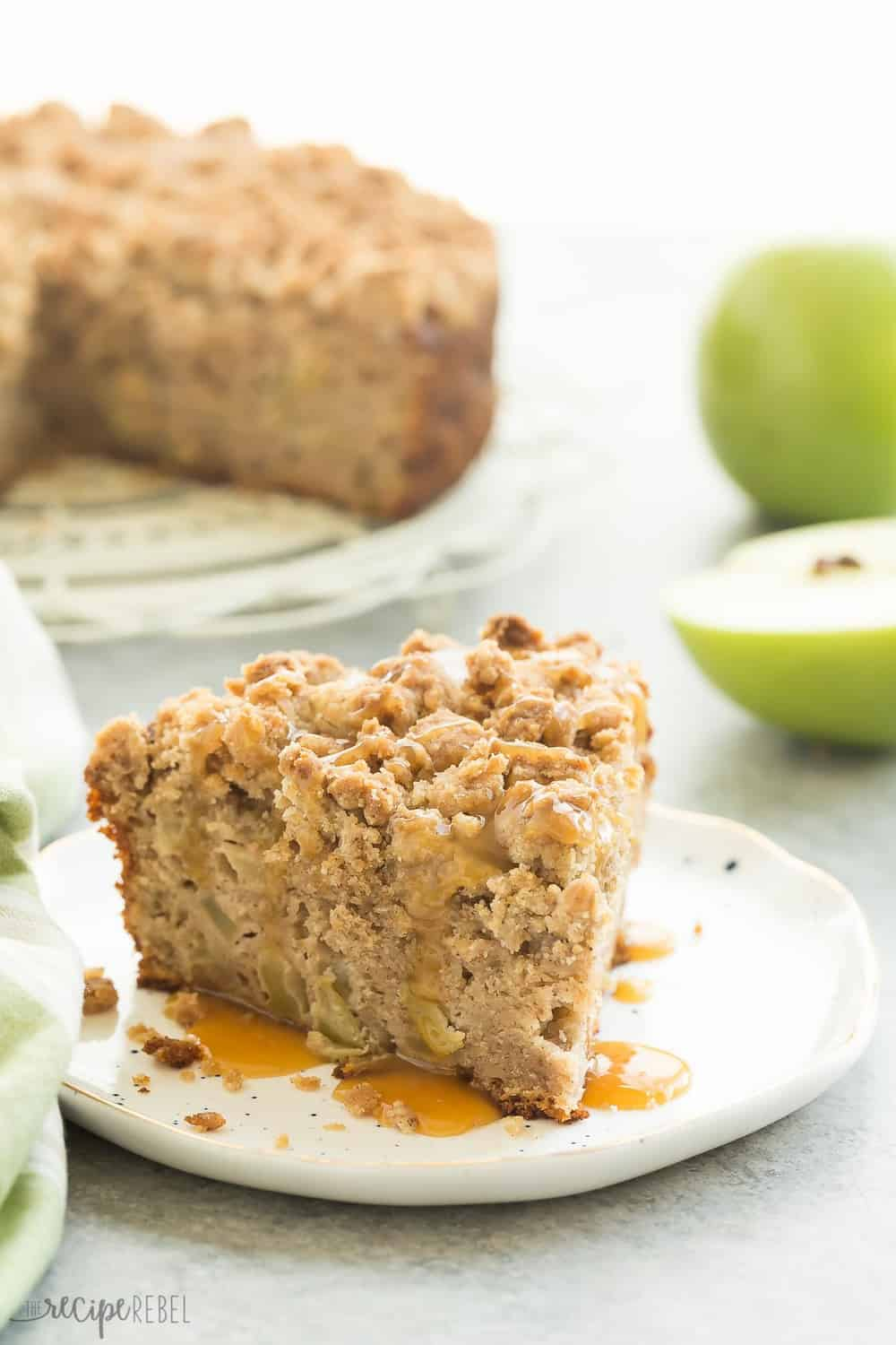 Healthy Apple Coffee Cake With Crumb Topping
