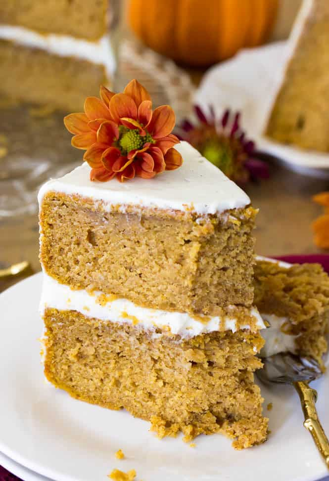 pumpkin layer cake pumpkin cake with cheese frosting the recipe critic 6856