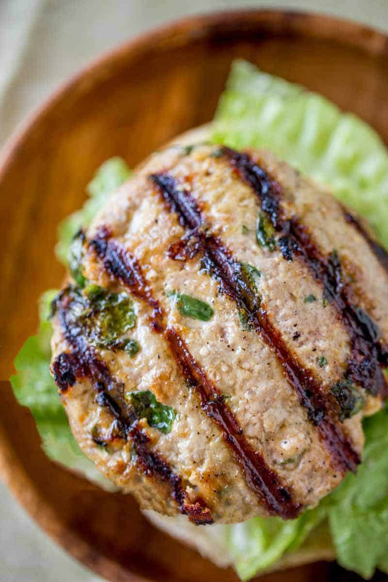 Crazy flavorful, moist and tender Spinach Feta Turkey Burgers.