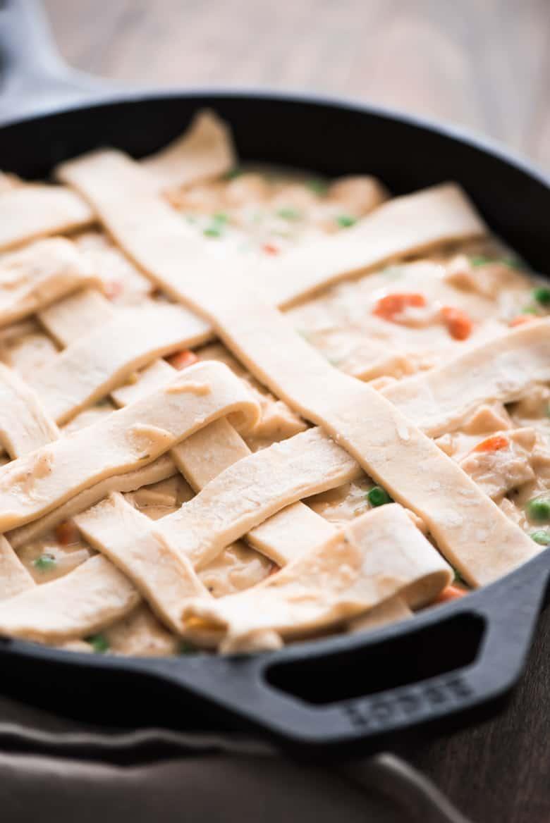 One Skillet Chicken Pot Pie