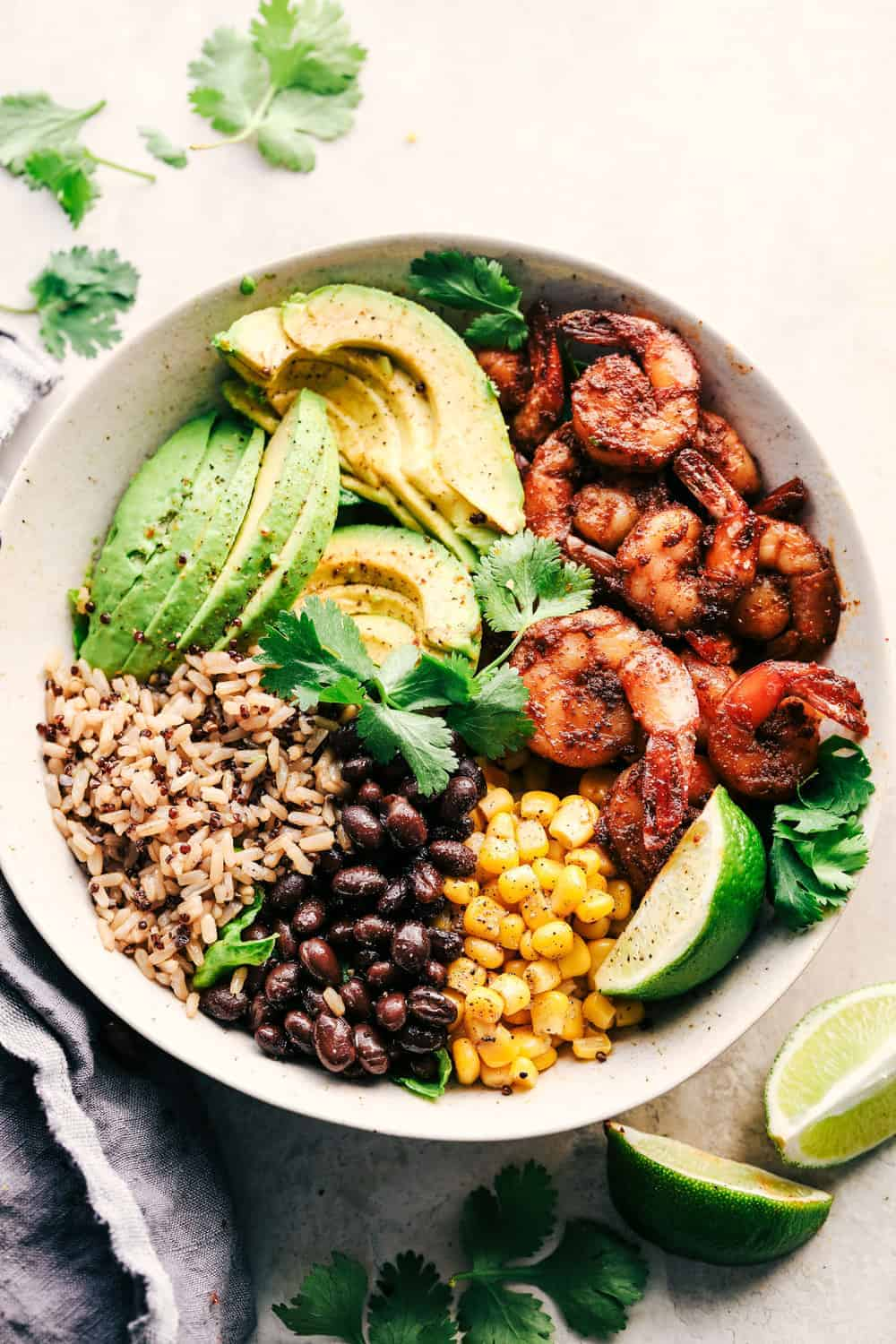 Blackened Shrimp Avocado Burrito Bowls The Recipe Critic