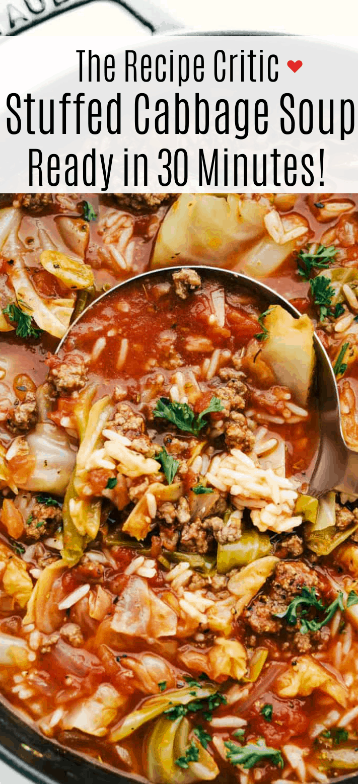 Stuffed Cabbage Soup- Ready in 30 Minutes!   Cook & Hook