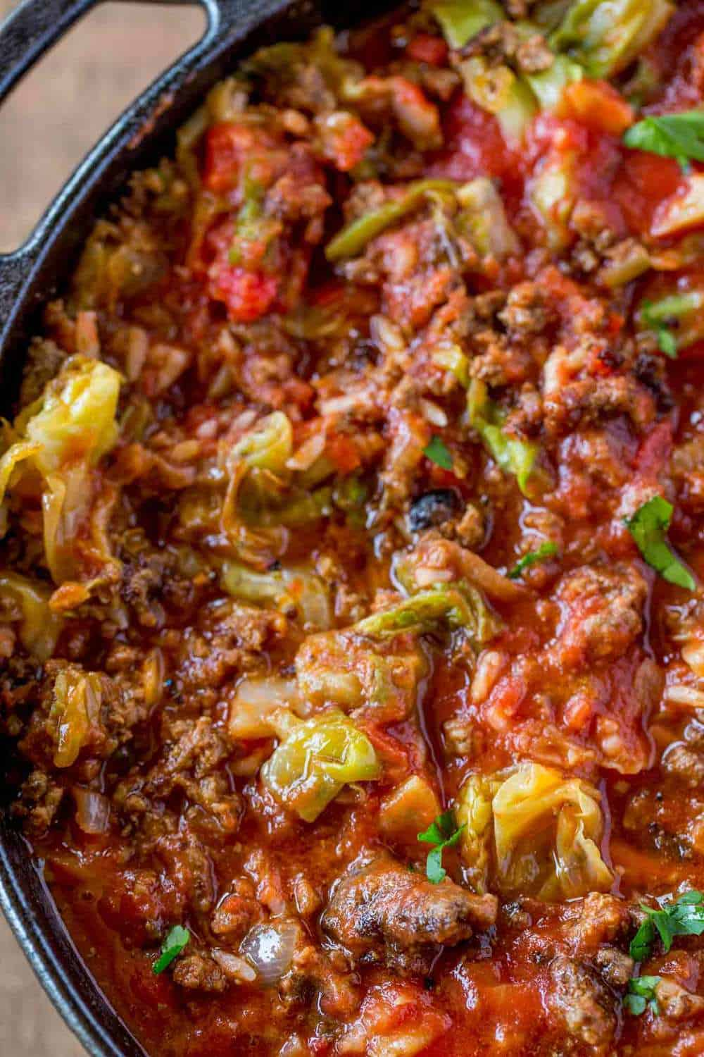 Stuffed Cabbage in soup form and so easy!