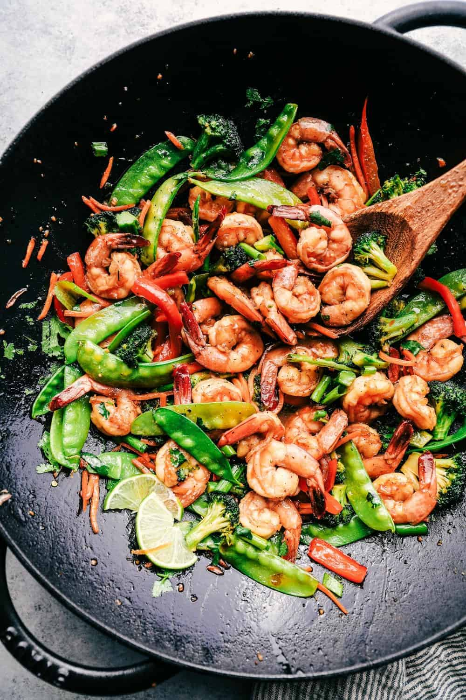 15-minute prawn stir-fry