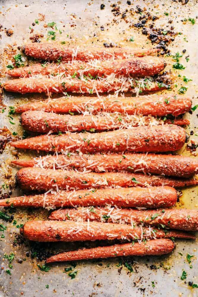 Garlic Butter Parmesan Carrots.