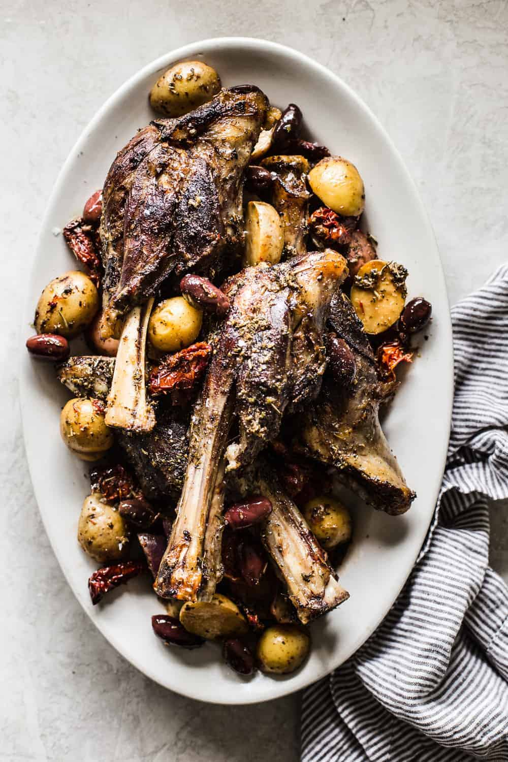 Slow cooker greek lamb shanks the recipe critic easter is right around the corner and let me ask lamb or ham we have always been a ham sort of family on easter but i am all about trying new things forumfinder Image collections