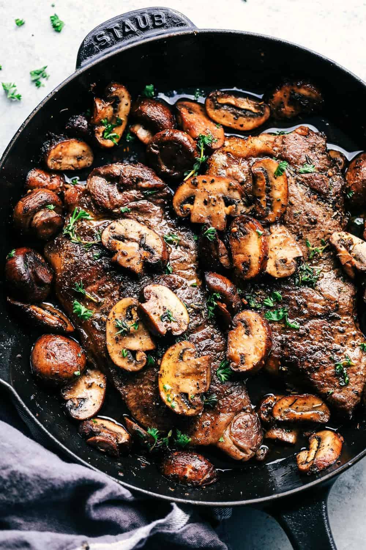 Garlic Butter Herb Steak And Mushrooms The Recipe Critic