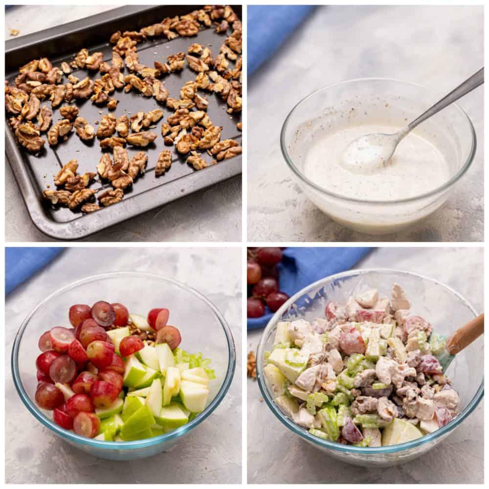 Ingredients for Waldorf Chicken Salad.
