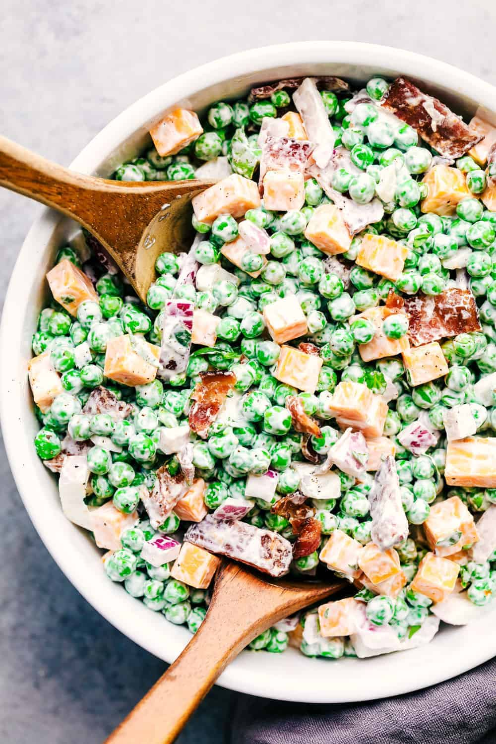 Best Ever Creamy Pea Salad With Bacon The Recipe Critic