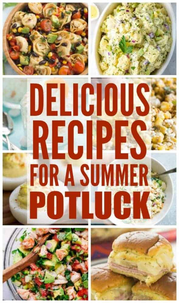 A round up a delicious recipes for a summer potluck.