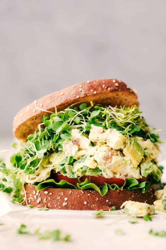 Avocado Chicken Salad made for sandwich.