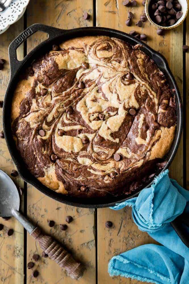 Deep Dish Skillet Brownie Cookie