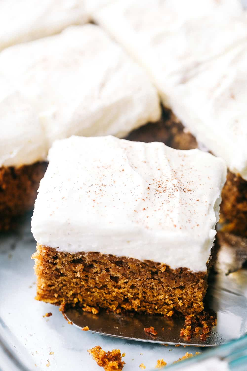 Pumpkin cake with frosting