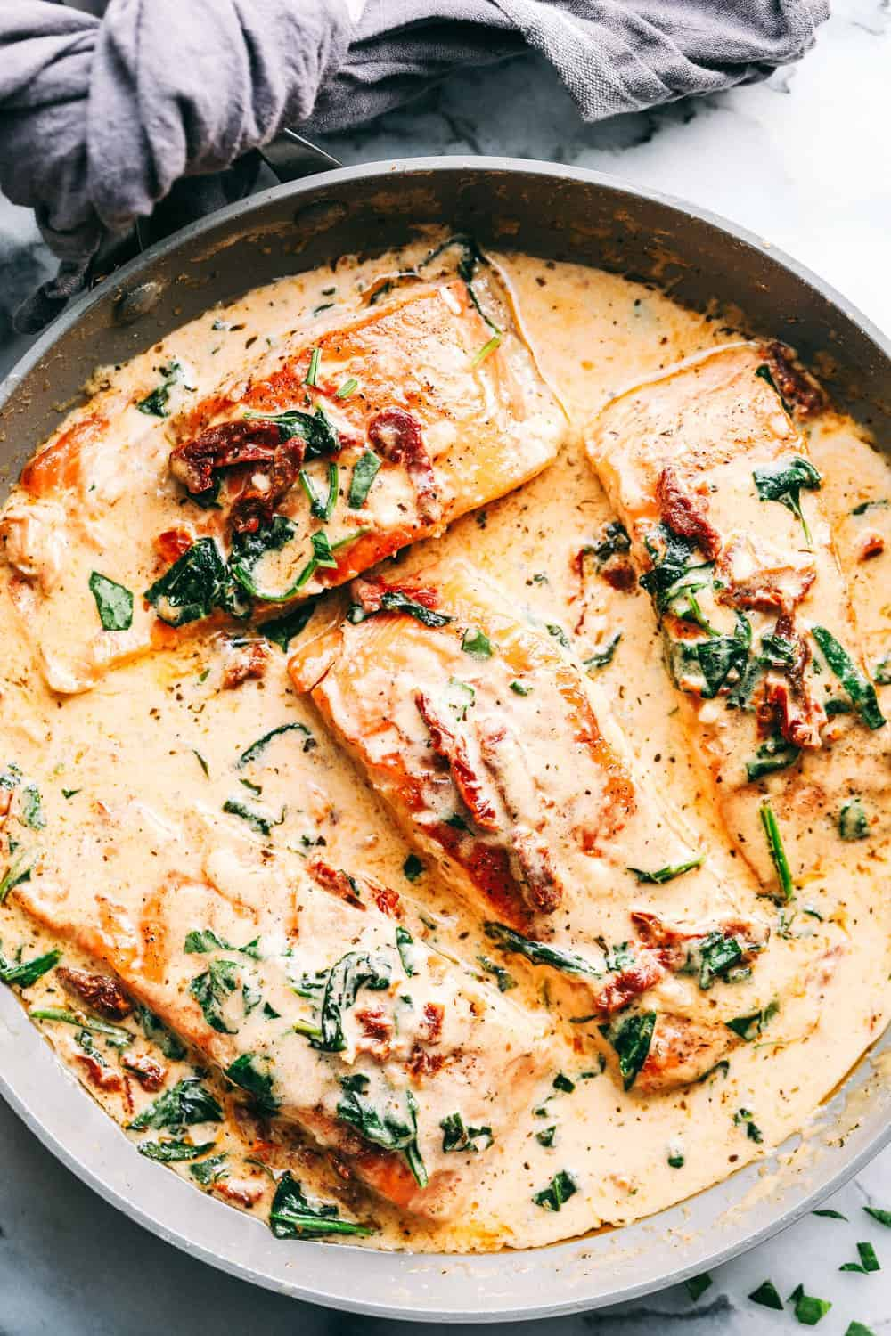 Insanely Good Creamy Tuscan Garlic Salmon The Cookbook Network