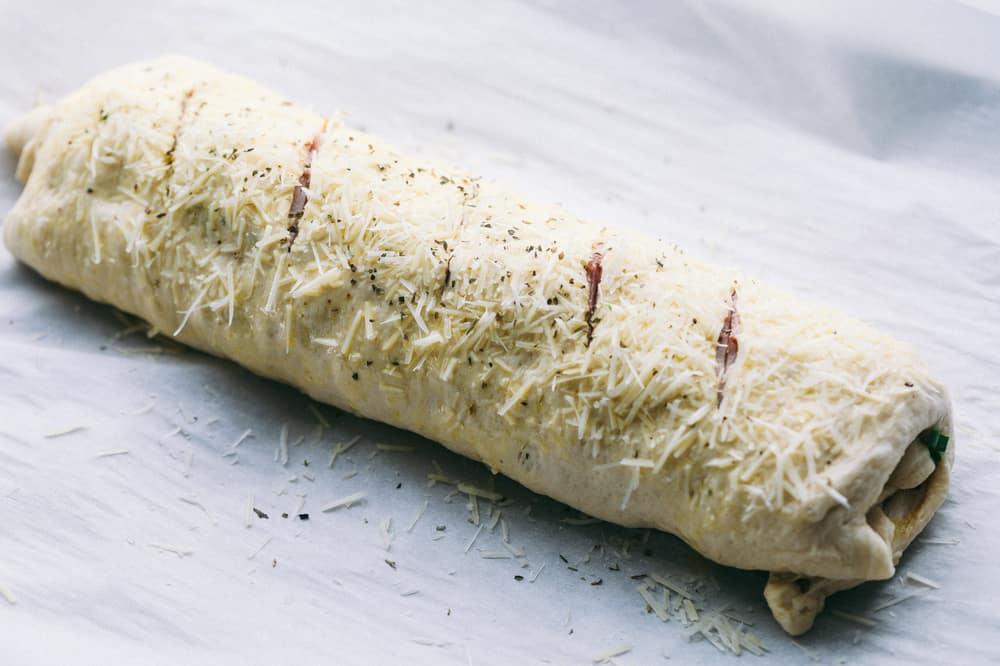 Easy Ham and Swiss Stromboli