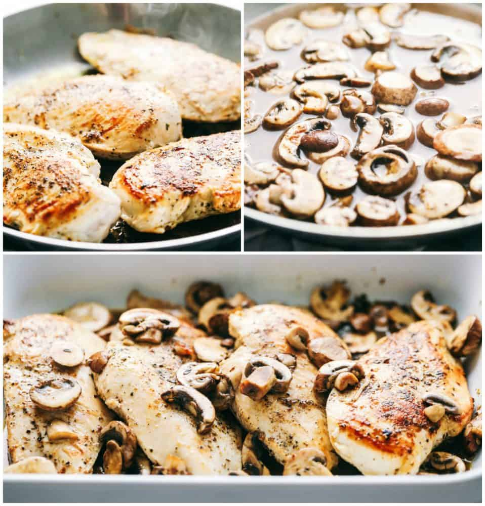 Steps to make Easy Baked Cheesy Mushroom Chicken.