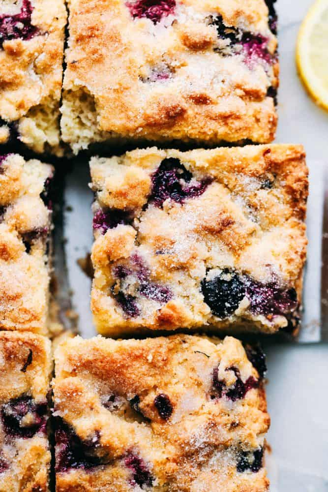 Incredible Blueberry Buttermilk Breakfast Cake The