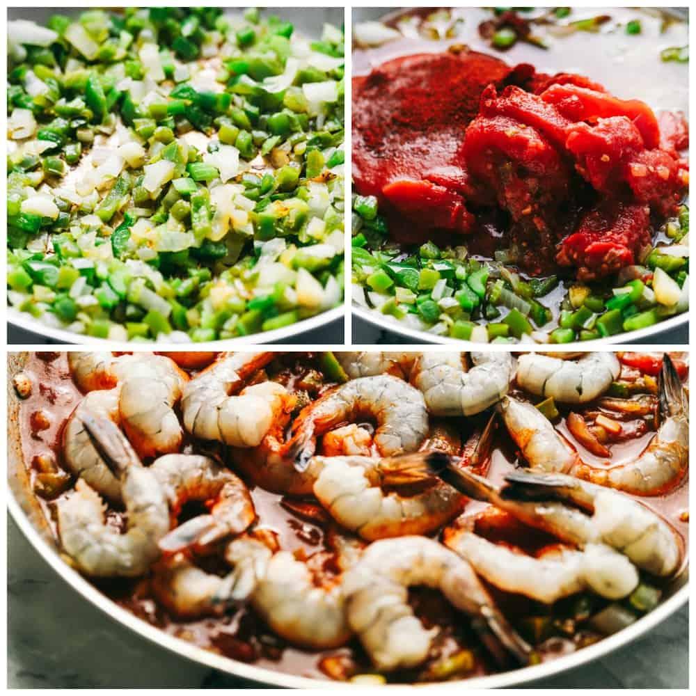 Steps to make Easy Shrimp Creole.