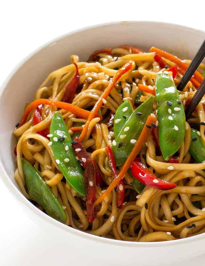 20 Minute Vegetable Lo Mein The Recipe Critic
