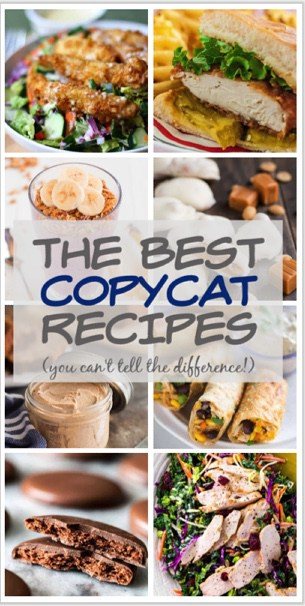 Collage of copycat recipes.