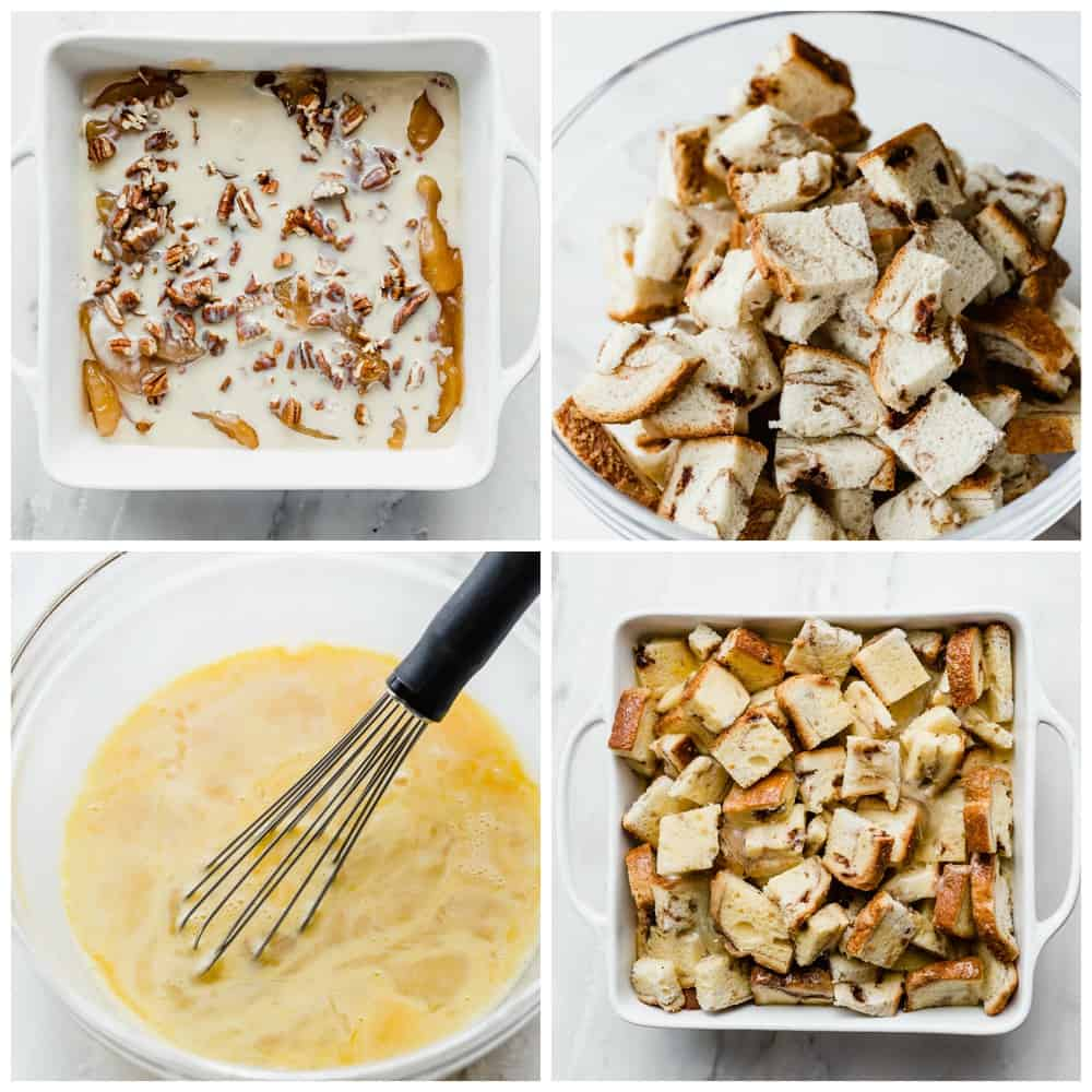 How to make caramel apple french toast casserole.