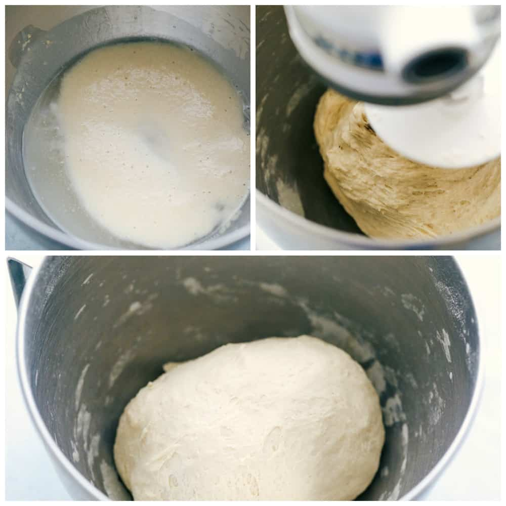 How to make pizza dough.
